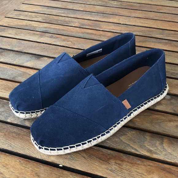 81db59adcf1e TOMS navy linen rope soles classics size 10 NWOT